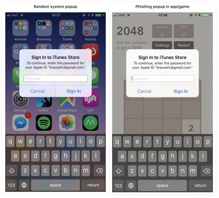 iOS Popups