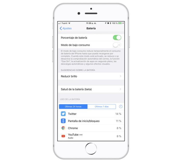 iOS 11.3 Batería Salud