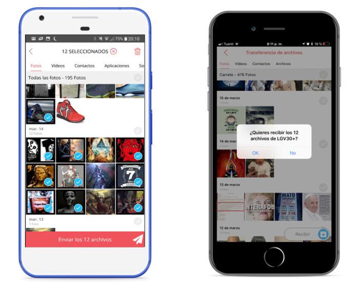 Cómo intercambiar fotos y otros archivos de forma rápida y sencilla entre iPhone y Android
