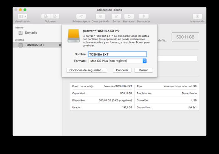 formatear SSD