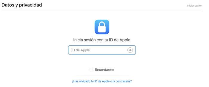 datos de privacidad