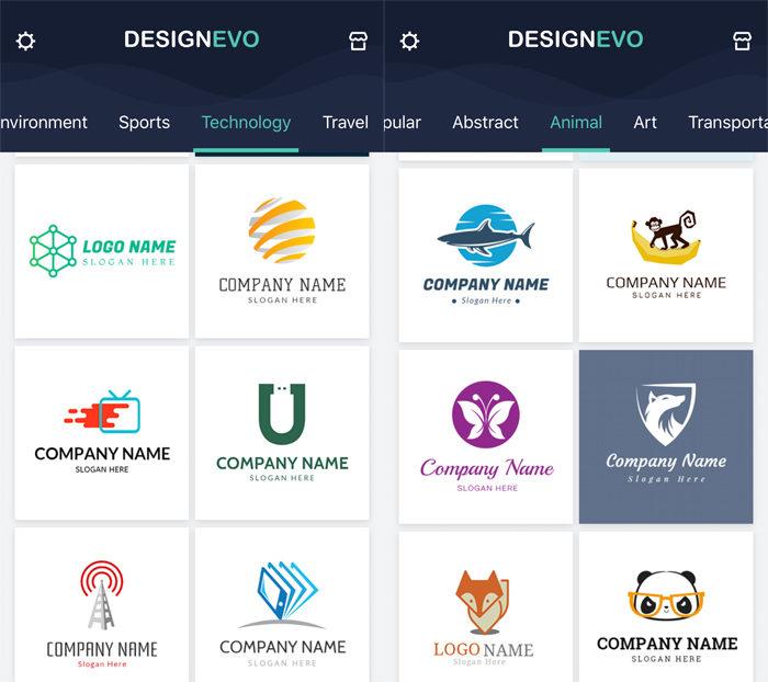 DesignEvo Paquetes