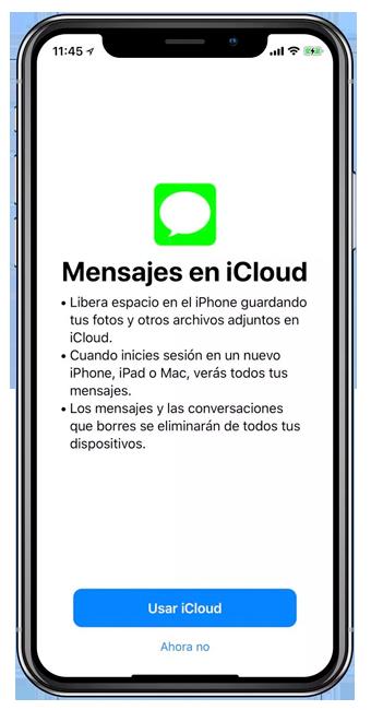 Mensajes en iCloud