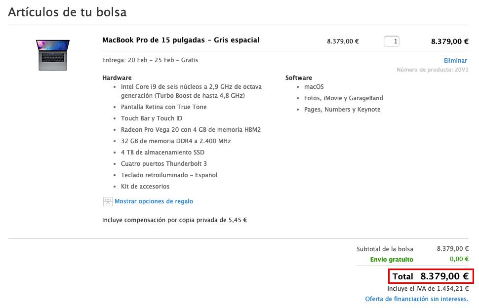 MacBook Pro caro