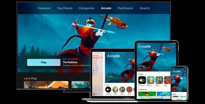 Dispositivos Apple Arcade