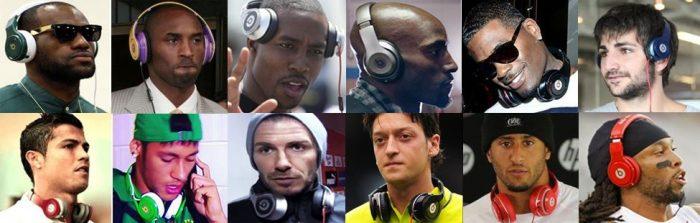 Famosos usando Beats