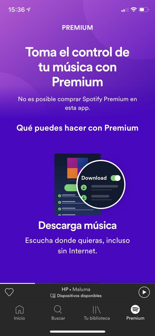 No Spotify Premium