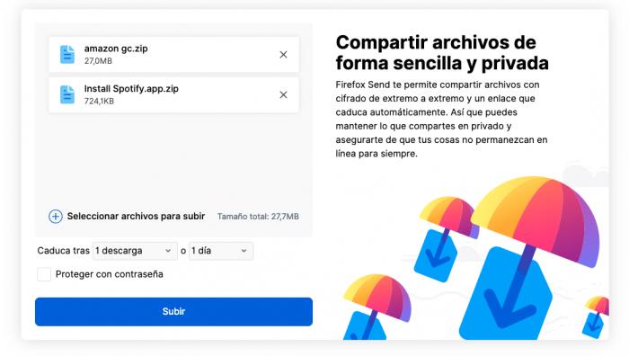 Send by Mozilla