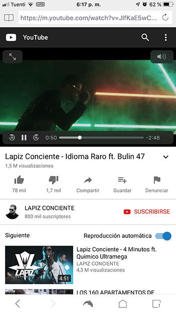Youtube Móvil en Dolphin