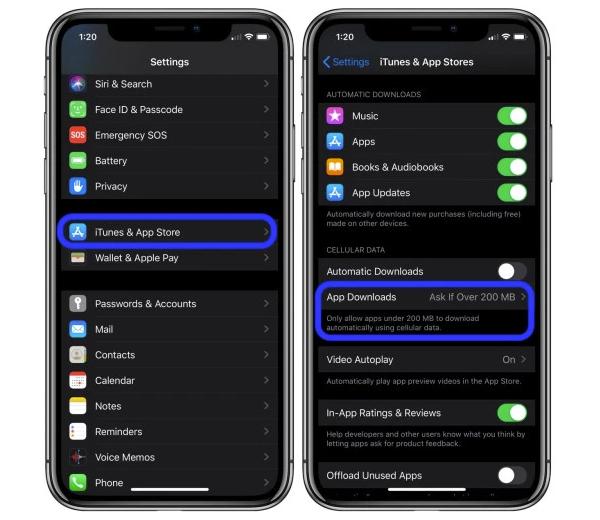 Ajustes iOS 13