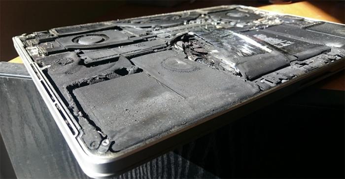 Batería explota