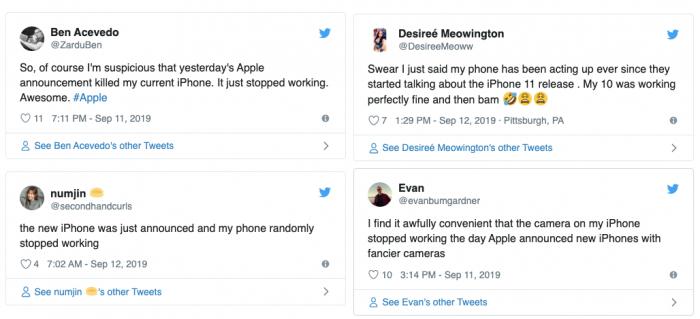 iPhone failing