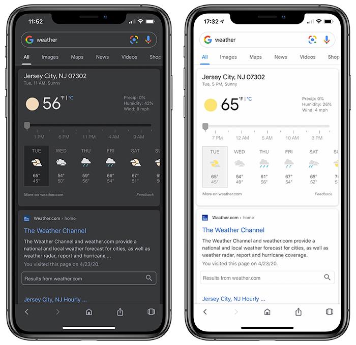 Google App Modo Oscuro