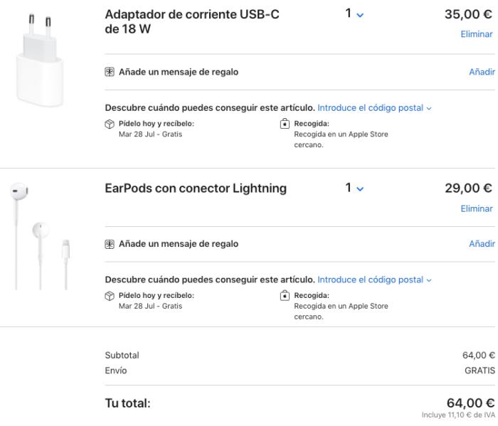 Precio cargador y auriculares
