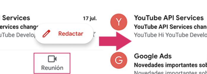 Cómo desactivar el nuevo botón de Reunión de Gmail