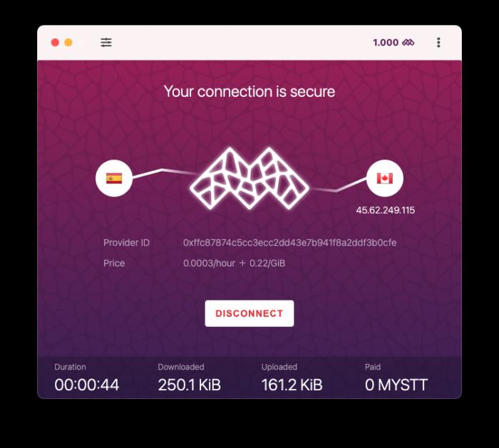 Conectado por VPN