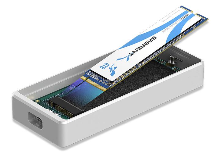 SSD y carcasa